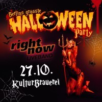 <small>Halloween in der KulturBrauerei<br><small>mit RIGHT NOW - Disco Live im Kesselhaus</small>