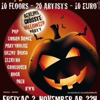 Halloween in der Kulturbrauerei<br><small>10 Floors | 20 Artists | 1 Ticket</small>